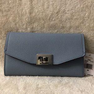 Michael Kors light blue trifold wallet